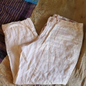 Anthropology HEI HEI linen pants s 32.